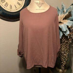 Lily White blouse Size XL